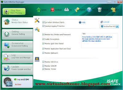 iSafesoft AllInOne Keylogger+Serial