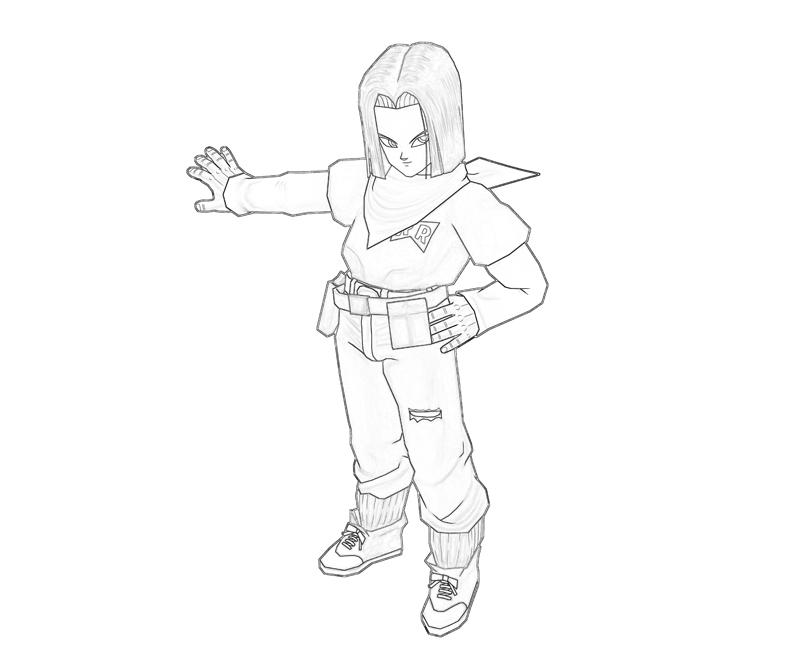 Android 17 Look Coloring Pages