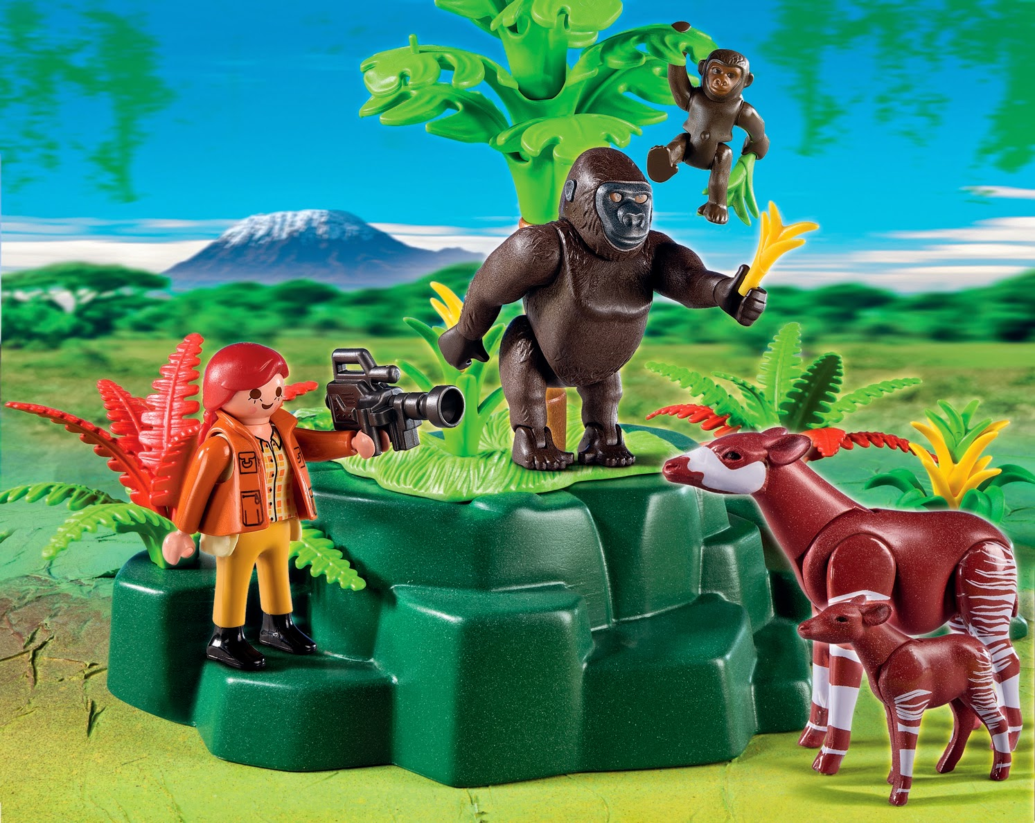 Creative preschool time endangered species day and playmobil toys - Babyzimmer jungle ...