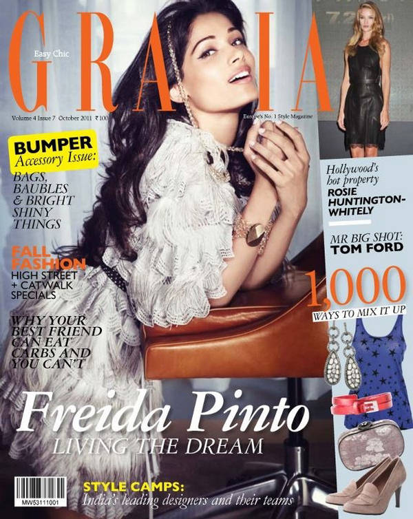 Freida Pinto in Grazia India magazine