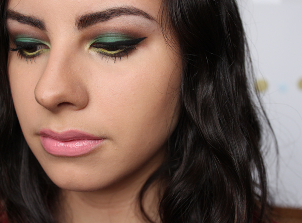 green yellow stila canary makeup look nyx