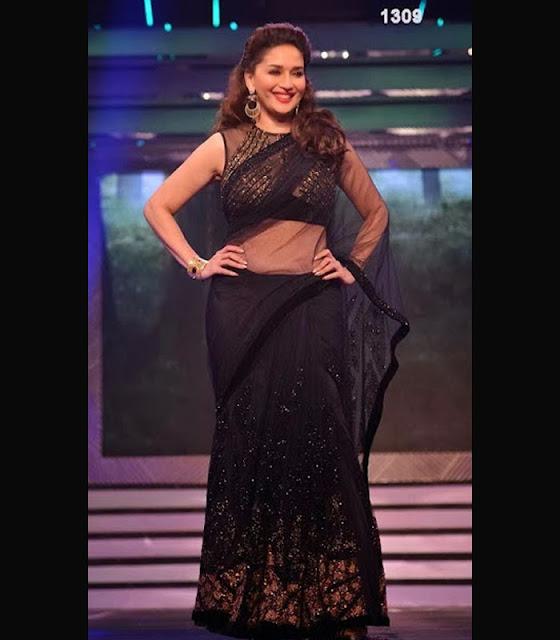 Madhuri Dixit in black saree