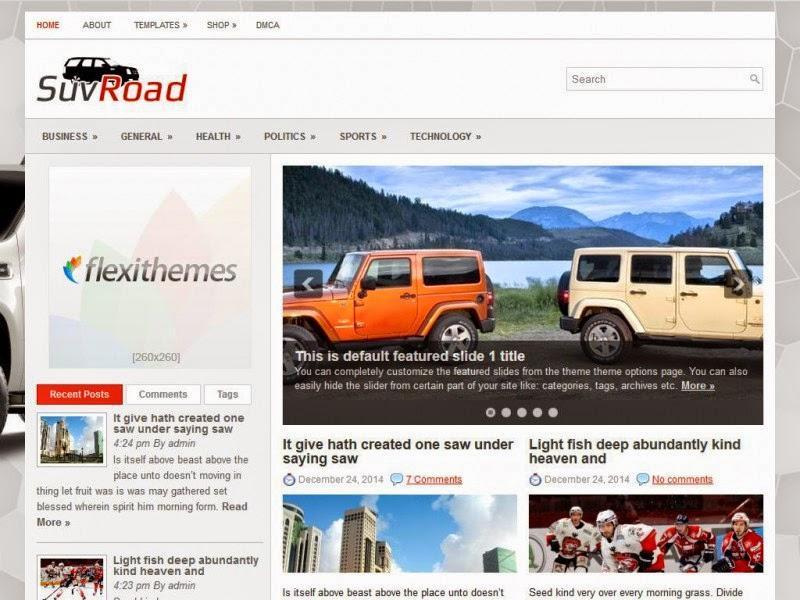 SuvRoad - Free Wordpress Theme
