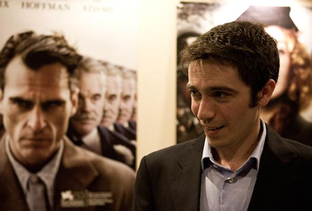 Marc Galcerán (el de la derecha, eh) en el preestreno de 1001 Blinks en los Cines Maldà de Barcelona.