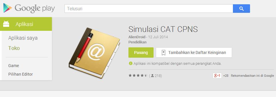 Aplikasi Simulasi CAT CPNS for Android