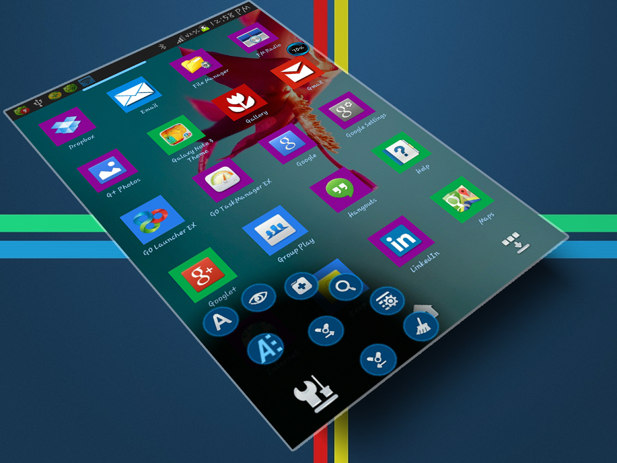 Windows 8 Next Launcher apk theme