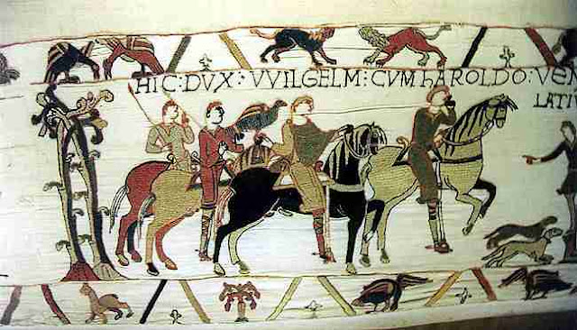 A small section of the 230-foot-long Bayeux Tapestry. Photo: WikiMedia.org.