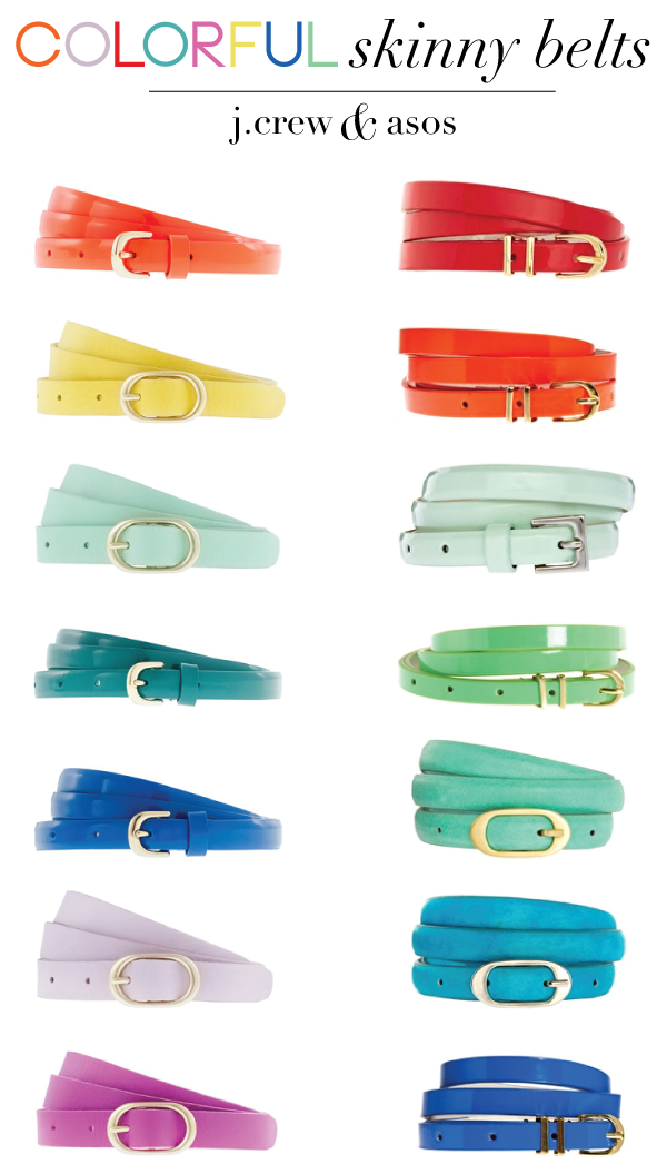 Colorful Skinny Belts