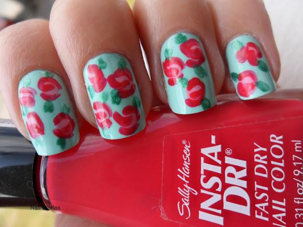 nail stories vintage floral nails