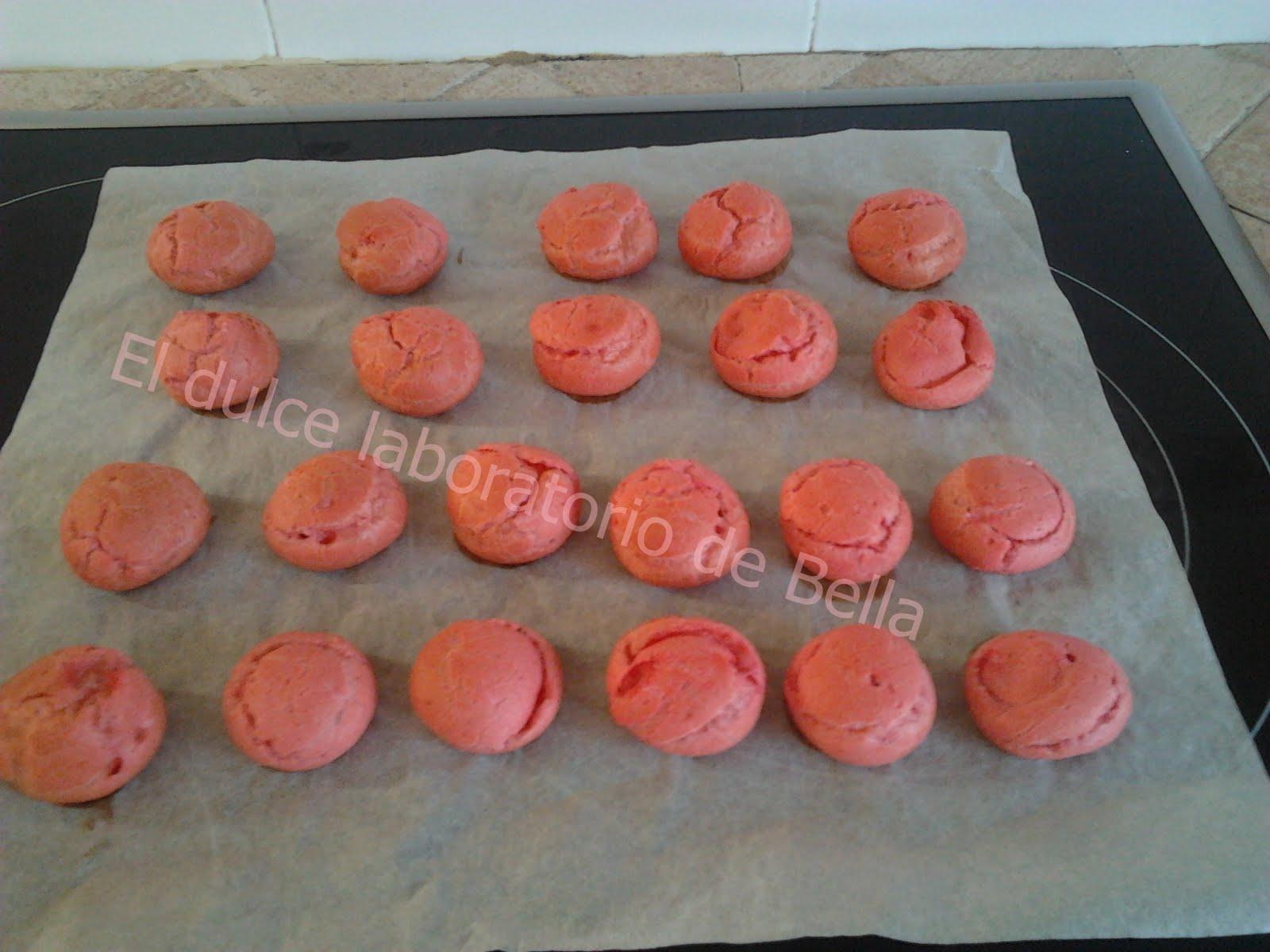 El dulce laboratorio de Bella: Profiteroles...... de color rosa