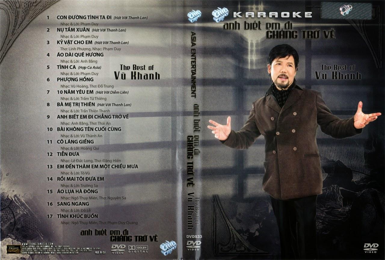 Aisa Karaoke-The Best Of Vũ Khanh-Anh Biết Em Đi Chẳng Trở Về (2013) [DVD5.ISO]