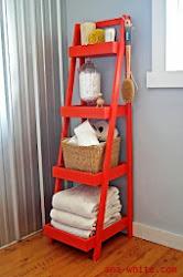 escaleras usadas como estantes repisas y libreros