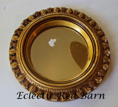 Eclectic Red Barn: Round frame with mirror