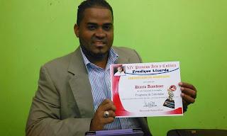 Entregan certificado a los nominados de los Premios Fradique Lizardo en SC