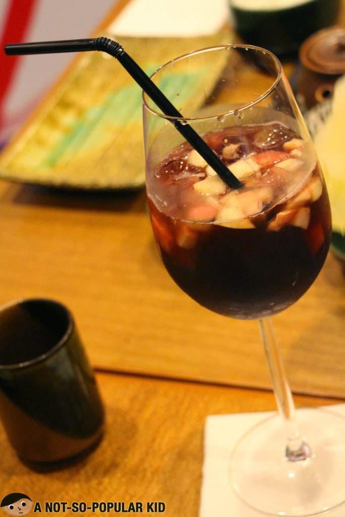 Sangria Drink in Yumi Restaurant
