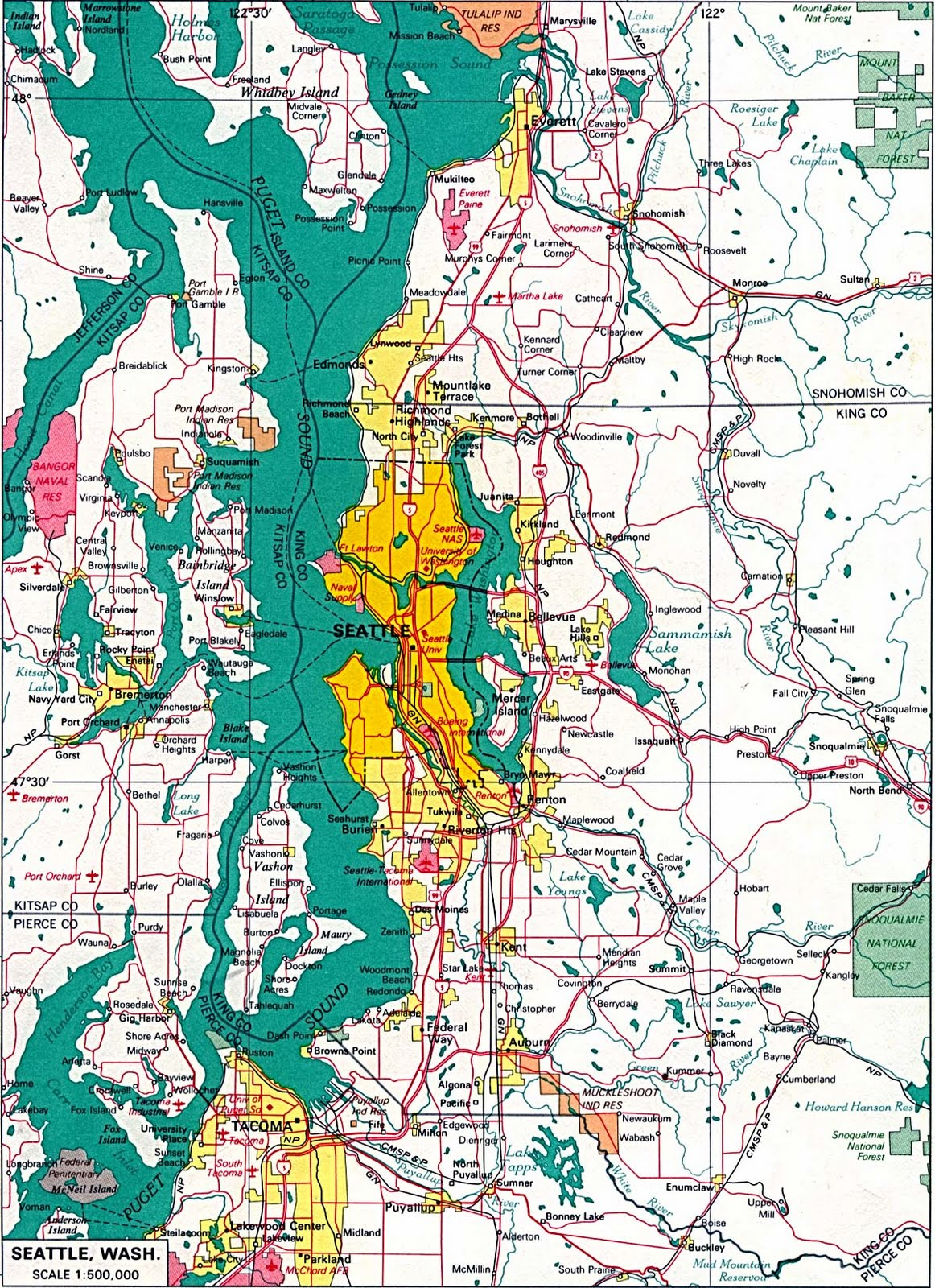 seattle puget sound map
