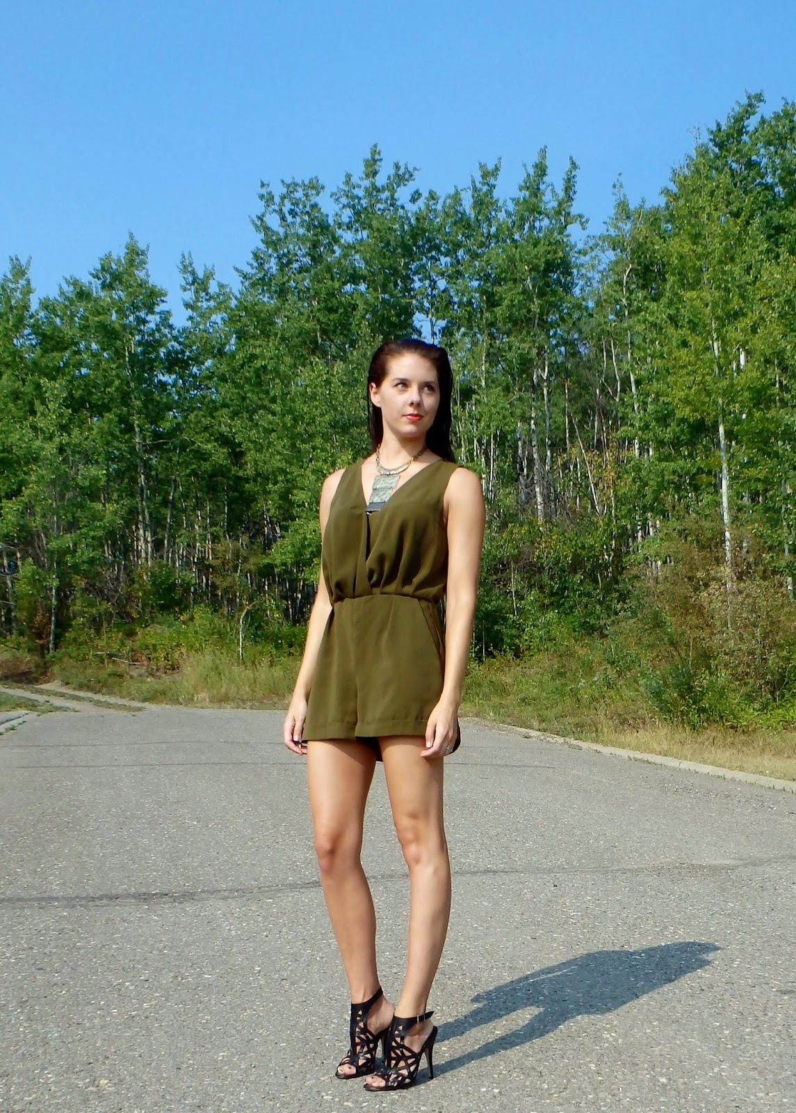 Olive Romper, Canadian Fashion Blogger