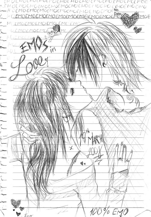 balahop emo love drawings