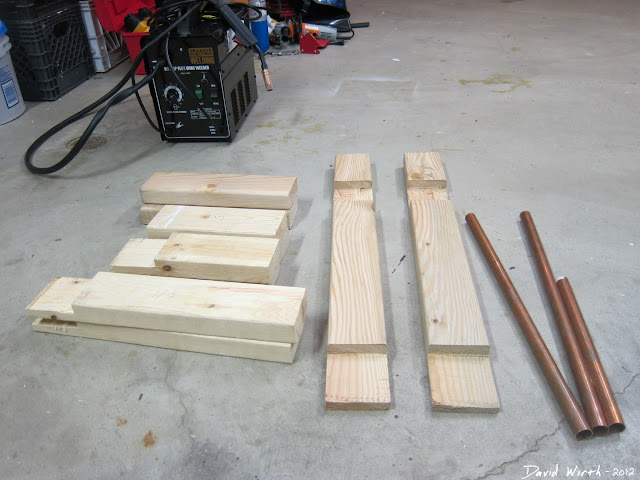 parts to build a welder cart, wood, pipe, copper, simple, plans