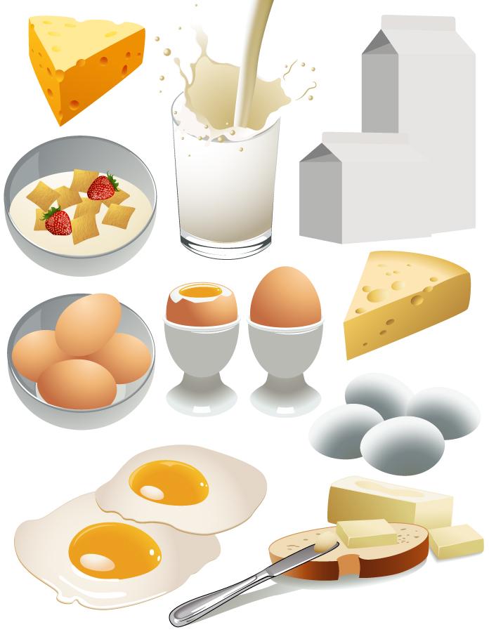 栄養価の高い朝食のクリップアート nutritious breakfast vector イラスト素材