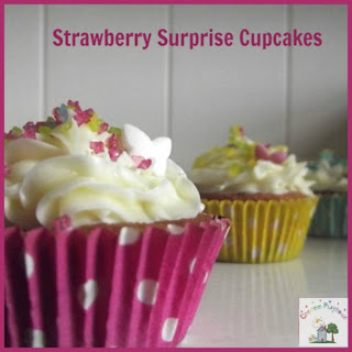 Creative Playhouse: Strawberry Surprise Cupcakes with #CBias