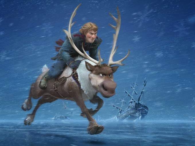 Kristoff Sven Frozen animatedfilmreviews.filminspector.com