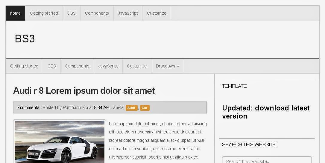 Fast Load Html Templates Fast Load Blogger Template dan Seo Friendly