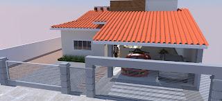 Cobertura de telha de barro