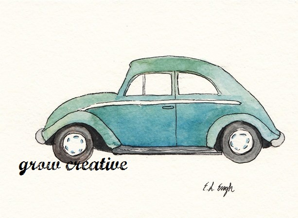 Watercolor Car