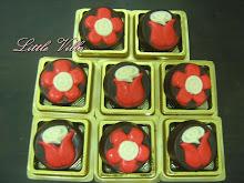 Coklat cookies - flower