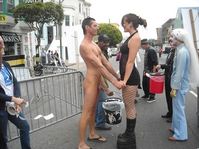 Naked girl public humiliation ass