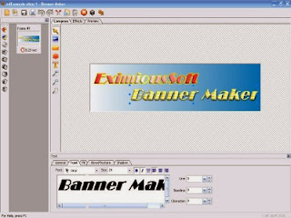 Banner Maker software for ceating banner ads, web buttons, headers and web graphics