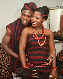 Super Eagles Striker Moses Simon Gets Wedded To Heartrob In Traditional Marriage (Photos)