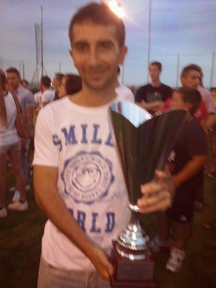 Alessandro Delfiore con la Coppa