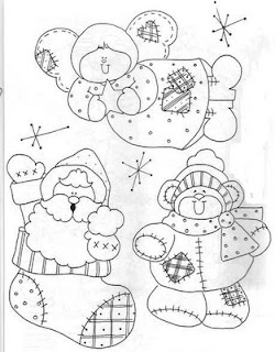 Riscos para pintura de Natal