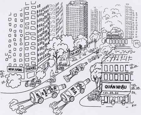 Biếm họa say xỉn khi tham gia giao thông