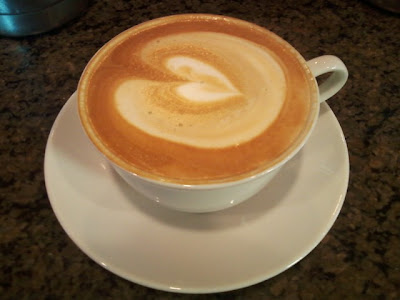 Latte or Cappuccino with a heart on top is espresso done right