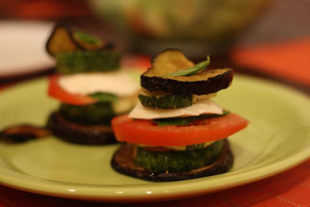 zucchini eggplant napoleans