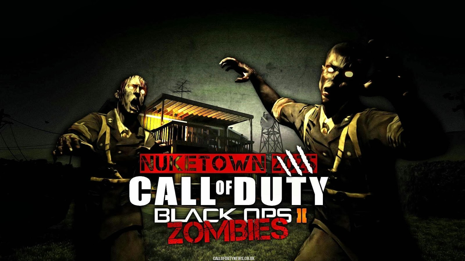 Fondo de Pantalla Juegos Call of duty black ops ii zombies nuketown ...
