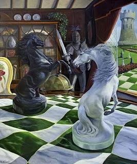 Pintura Oleo Caballo Surrealismo