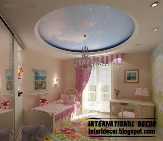 بالصور جبس لغرف الاطفال modern false ceiling design for kids room interior 6