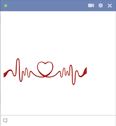Facebook Life-Line Heart Icon
