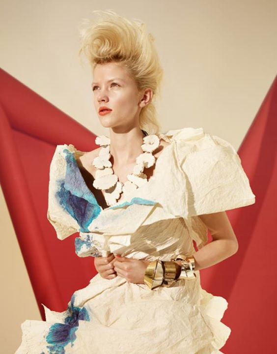 Paper fashion dresses | Futuristic style - Matthew Brodie