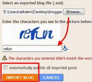 import xml ke blogger