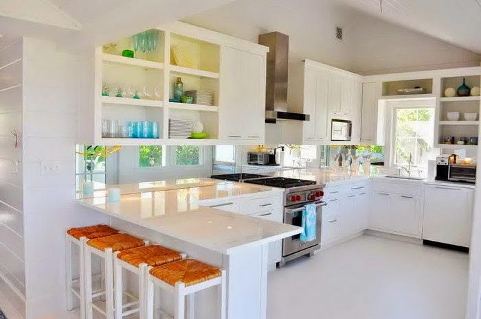 Keramik Lantai Dapur Warna Putih tampak bersih