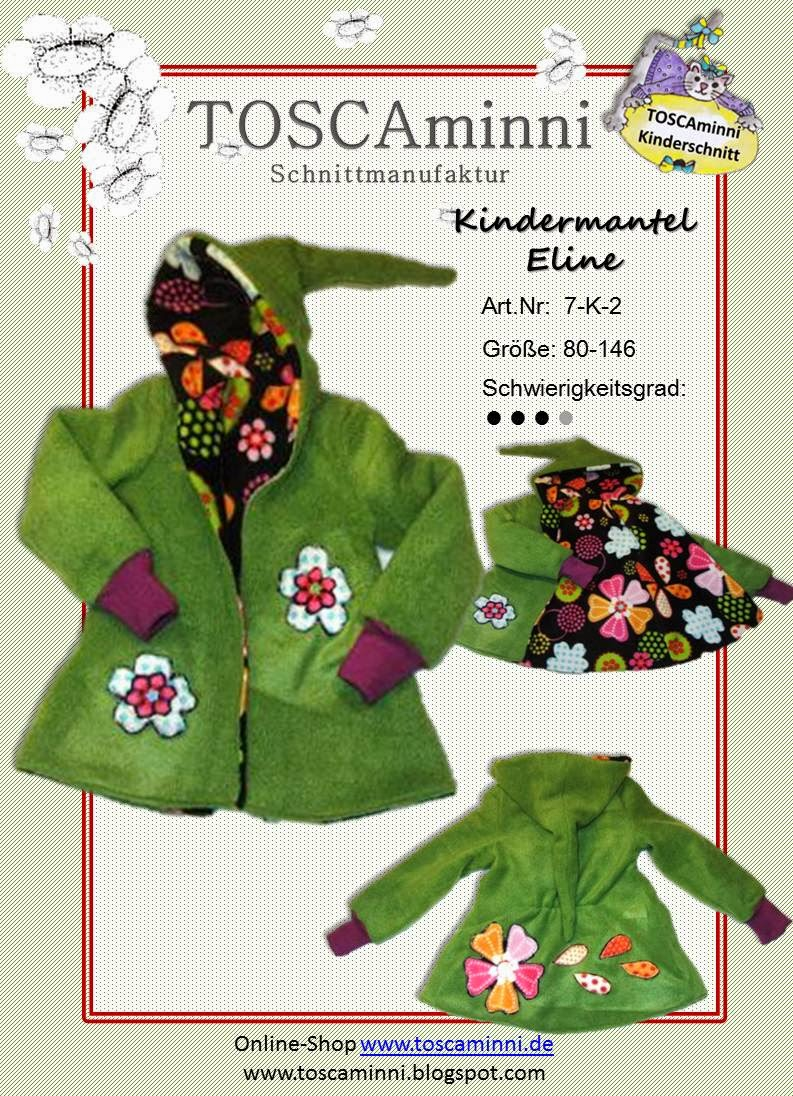 Mantel Eline, Schnittmuster (E-Book)