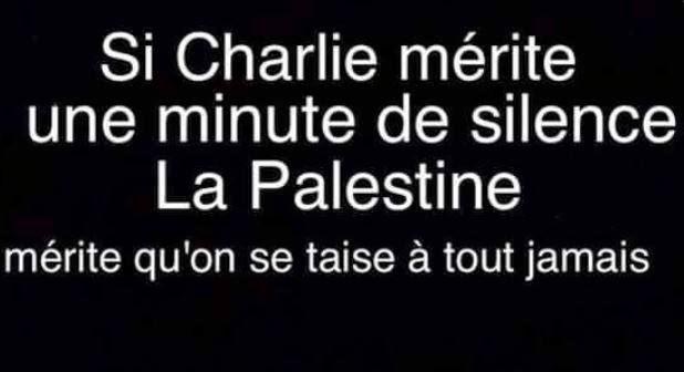 Pourquoi je ne suis pas Charlie Charlie%2BPalestine%2Bsilence