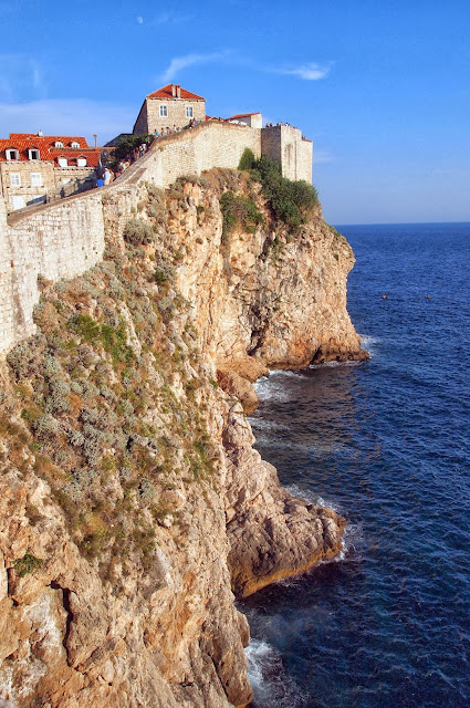 View from Dubrovnik city walls, Croatia