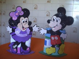 Porta Treco: Minnie e Mikey