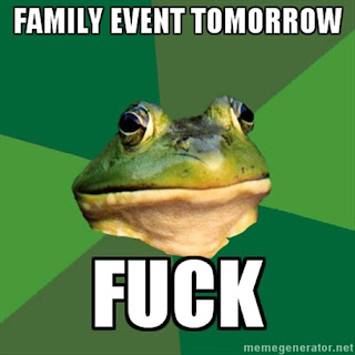 foul bachelor frog family event